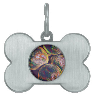 Modern Artistic Circular Ball Pattern Pet ID Tag