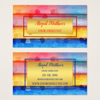 Modern Artistic Colour Consultant Business Card