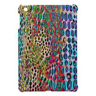 Modern Artistic Fall Toned Snake Skin Pattern Cover For The iPad Mini