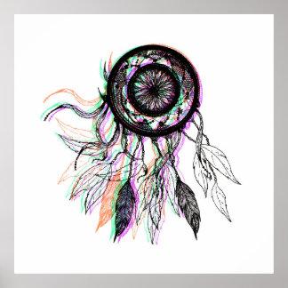 Modern Artistic Native American Dreamcatcher Poster