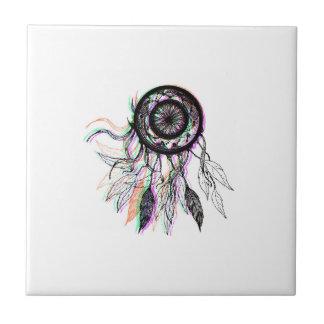 Modern Artistic Native American Dreamcatcher Small Square Tile
