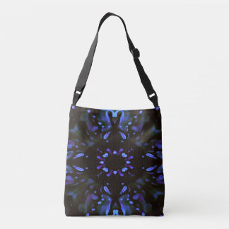 Modern Artistic Neon Lavender Periwinkle Abstract Crossbody Bag