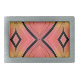 Modern Artistic Peach Pattern Rectangular Belt Buckles
