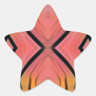 Modern Artistic Peach Pattern Star Sticker