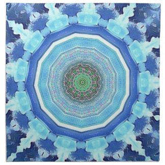 Modern Artistic Shades of Blue Mandala Napkin