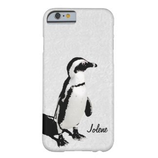 Modern Artsy Black White Penguin Barely There iPhone 6 Case