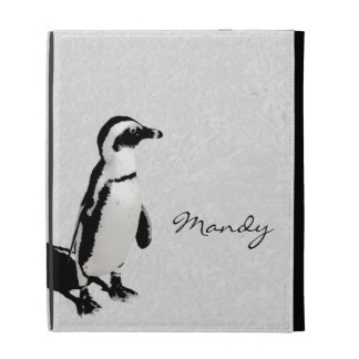 Modern Artsy Black White Penguin iPad Folio Case