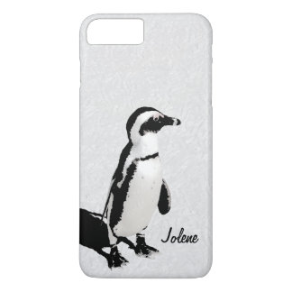 Modern Artsy Black White Penguin iPhone 8 Plus/7 Plus Case