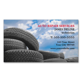 Modern Auto Repair Services Magnetic Business Cards