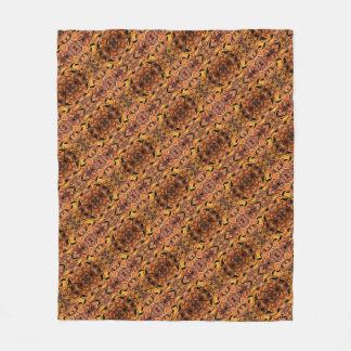 Modern Autumn Leaves Silhouette Pattern Fleece Blanket