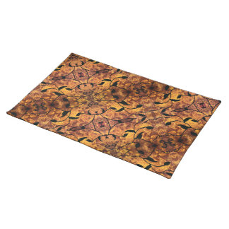 Modern Autumn Leaves Silhouette Pattern Placemat