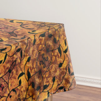 Modern Autumn Leaves Silhouette Pattern Tablecloth