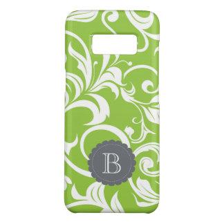 Modern Avocado Floral Wallpaper Swirl Monogram Case-Mate Samsung Galaxy S8 Case