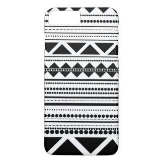 Modern Aztec Pattern Black And White iPhone 8 Plus/7 Plus Case
