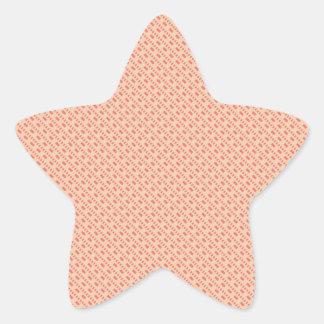 Modern Aztec Pink Striped Pattern Star Sticker