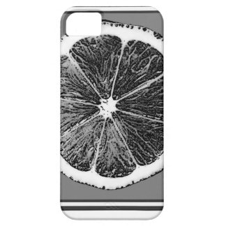 Modern  B&W Grey cut Grape Fruit Design Barely There iPhone 5 Case