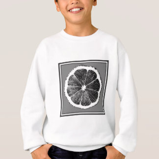 Modern  B&W Grey cut Grape Fruit Design Sweatshirt
