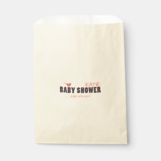 Modern Baby Girl Shower Favor Bag Favour Bags