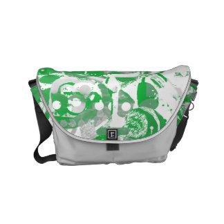 Modern bag with a fresh green Art motif Courier Bag