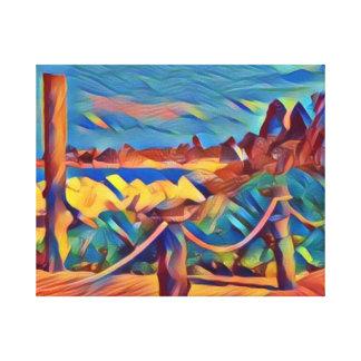 Modern Bahama Island Wall Hanging Canvas Print