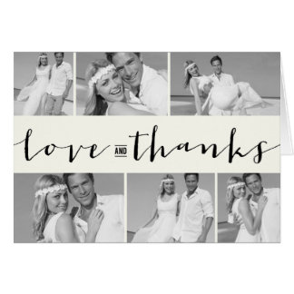 Modern Band Photo Collage Wedding Thank You Card