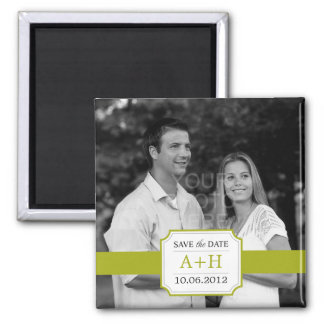 Modern Band Save The Date Magnet (Lime)