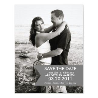 Modern Banner Save the Date 11 Cm X 14 Cm Invitation Card