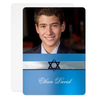Modern, Bar Mitzvah, Custom  Photo Invitation