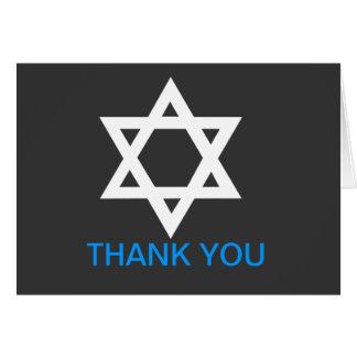 Modern Bar Mitzvah Thank You Note Card