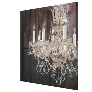 modern barnwood crystal chandelier country chic gallery wrap canvas
