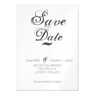 Modern Baroque Magnetic Invitations