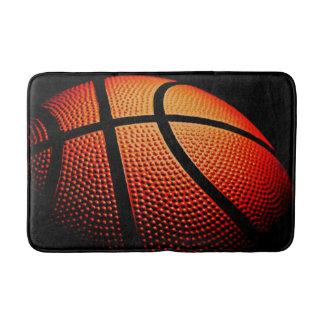 Modern Basketball Sport Ball Skin Texture Pattern Bath Mat
