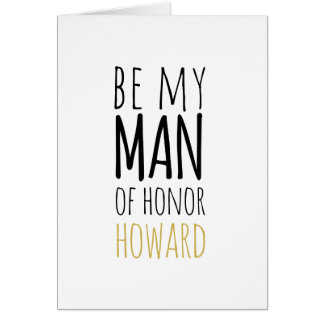Modern Be My Man of Honour Request Card