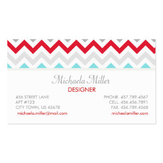 Modern Beach House Chevron Zigzag Pattern Business Card Templates