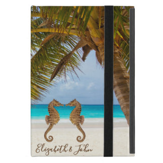 Modern Beach,Palm,Seahorses-Personalized Cover For iPad Mini