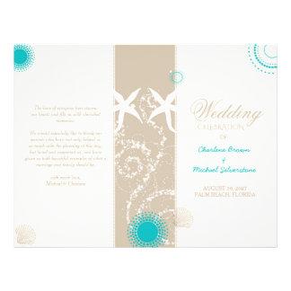 Modern Beach Wedding Celebration Bi Fold Program Flyer