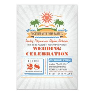 Modern Beach Wedding Invitations