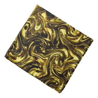 modern beautiful golden pattern curving Fashionart Kerchief