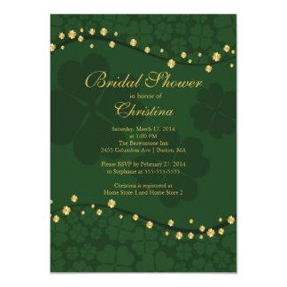 Modern Beautiful Irish Shamrock Bridal Shower 11 Cm X 16 Cm Invitation Card