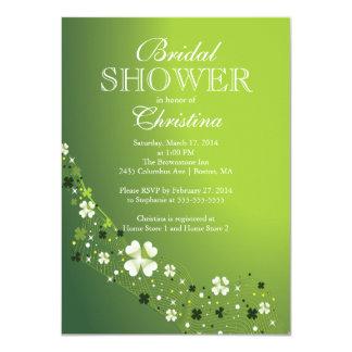 Modern Beautiful Irish Shamrock Bridal Shower Personalized Invite