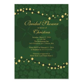 Modern Beautiful Irish Shamrock Bridal Shower Custom Invite