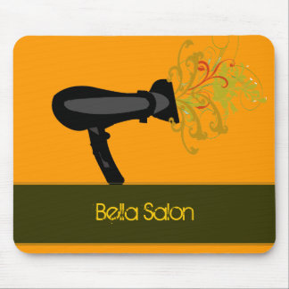 Modern Beauty Orange Salon Mouse Pad
