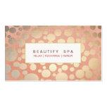 Modern Beauty Salon & Spa Faux Gold Pink