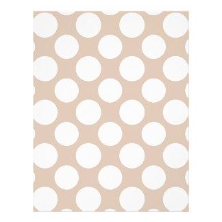 Modern Beige White Polka Dots Pattern Flyer Design