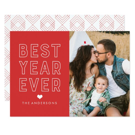 Modern Best Year Ever | Holiday Photo Card