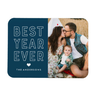Modern Best Year Ever | Holiday Photo Magnet