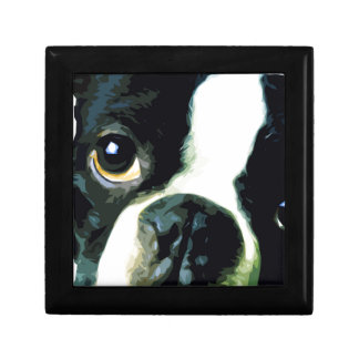 modern big Boston Terrier Gift Box