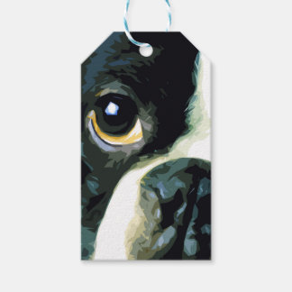modern big Boston Terrier Gift Tags