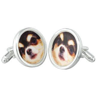 modern big Chihuahua Cufflinks