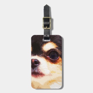 modern big Chihuahua Luggage Tag